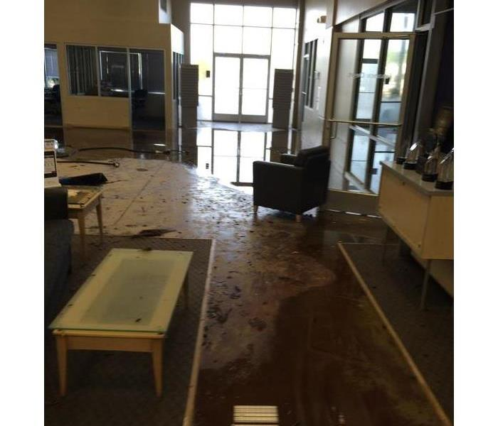 Flooded Commercial Building Before