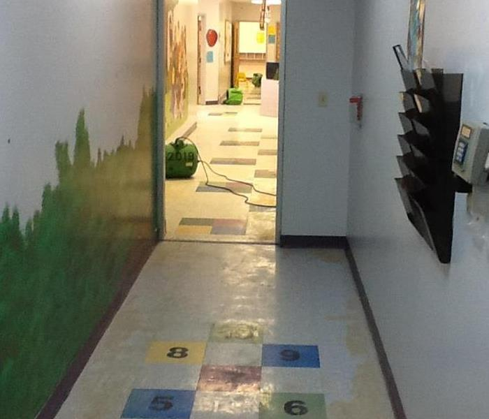 Preschool in Houston, TX Water Damage Before