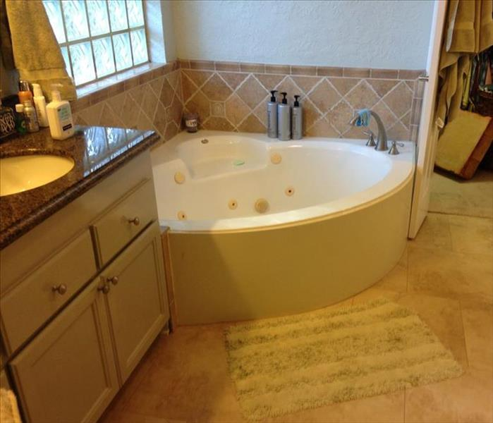 Garden Tub Leaking Caused Mold Damage in Houston, TX  Before